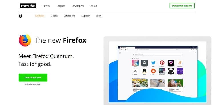 Firefox's CTA