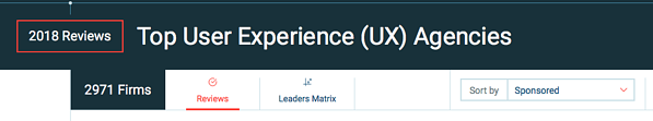 UX design firms on clutch.