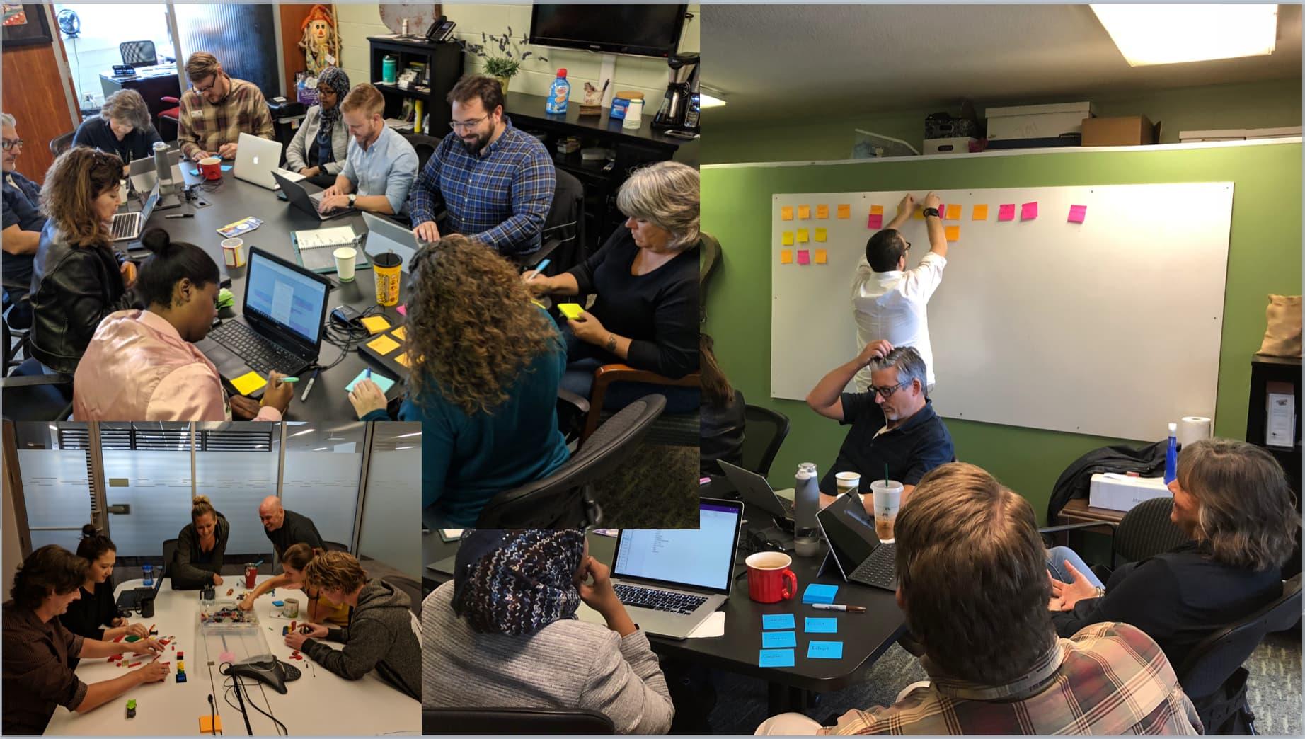 The DePalma team at UX workshops